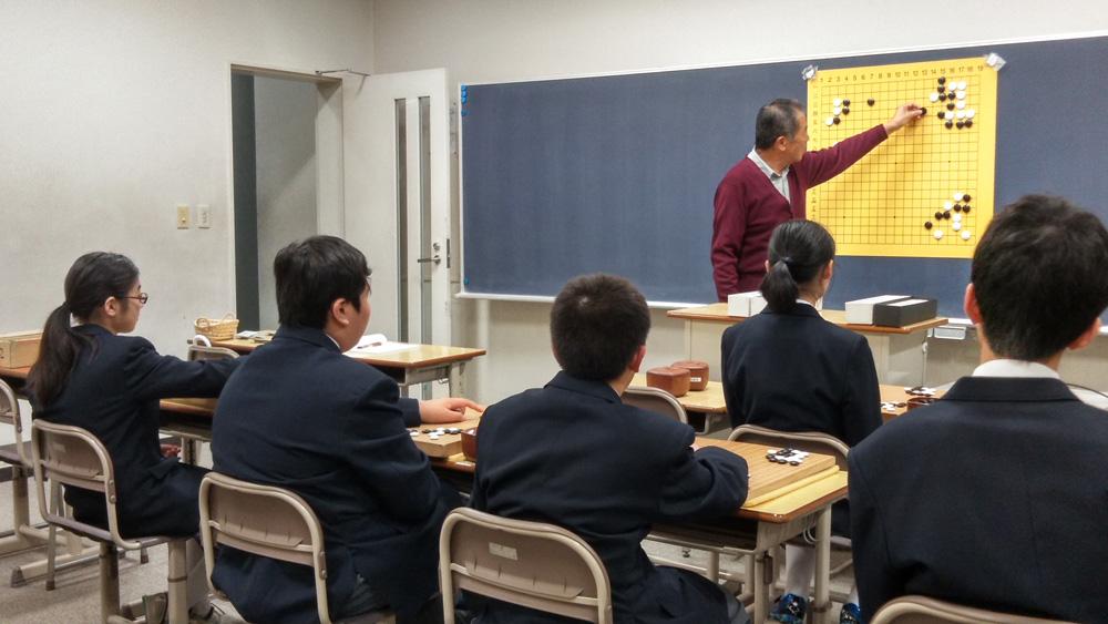 麗澤中学高等学校囲碁部への囲碁の指導